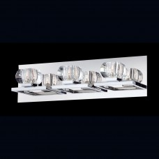 Eurofase 26357-010- Casa Collections - 3-Light Wall Sconce - Chrome w/ Clear Crystal Glass - G9 Bulb - 120V
