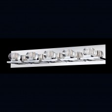 Eurofase 26359-014- Casa Collections - 5-Light Wall Sconce - Chrome w/ Clear Crystal Glass - G9 Bulb - 120V