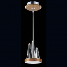 """Eurofase 26370-019 - Skyline Collections - 3-Light Mini Pendant w/ 3""""+6""""+12""""+18"""" extension rods - Chrome with Clear Glass"""
