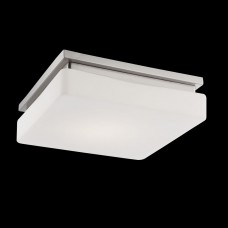 Eurofase 26632-025 - Ellsworth Collections - 1-Light LED Flush mount  - Satin Nickel with Opal glass Diffuser