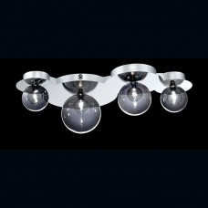 Eurofase 26353-012- Grappa Collections - 4-Light Flushmount / Wall Sconce - Chrome with Smoke / Clear Glass - G4  Bulbs - 12V