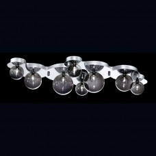 Eurofase 26355-016- Grappa Collections - 8-Light Flushmount / Wall Sconce - Chrome with Smoke / Clear Glass - G4  Bulbs - 12V