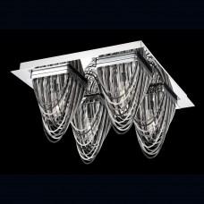 Eurofase 26321-011- Wasaga Collections - 4-Light Flushmount - Chrome with Metal Chains - G9 Bulb - 120V