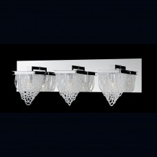 Eurofase 26591-018- Rio Collections - 3-Light Bathbar - Chrome w/ Crystal Beaded Baskets - G9 Bulb - 120V