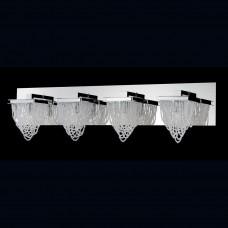 Eurofase 26592-015- Rio Collections - 4-Light Bathbar - Chrome w/ Crystal Beaded Baskets - G9 Bulb - 120V
