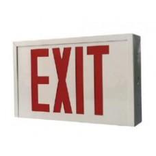 Beghelli Emergency Light - SLESPLRUM120/347V - LED Exit Sign - Steel - Red Letters - Battery Backup