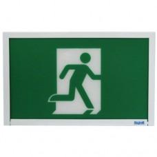 Beghelli Steel Running Man Sign - SL-RMSPLU-0LR-M-120/347V - LED Running Man Sign - Steel - Green Sign - Battery Backup