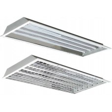 4 Lamp - F54T5HO High Bay- Fluorescent Fixture - 120/277V