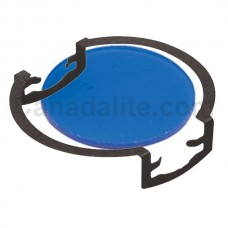 MR16 - BLUE - Glass Lens / Filter with Clip -  Re-Useable **