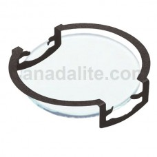 MR16 - FROSTED - Glass Lens / Filter with Clip -  Re-Useable **