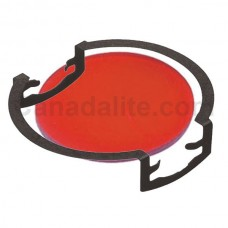 MR16 - RED - Glass Lens / Filter with Clip -  Re-Useable **