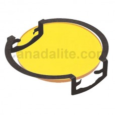 MR16 - YELLOW - Glass Lens / Filter with Clip -  Re-Useable **