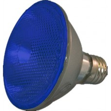 75W - Blue - PAR30 Long Neck - Flood - Halogen - 130 Volt - 75PAR30LN/HAL/FL/BLUE