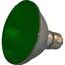 75W - Green - PAR30 Long Neck - Flood - Halogen - 130 Volt - 75PAR30LN/HAL/FL/GREEN