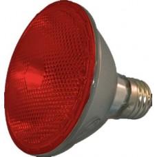 75W - Red - PAR30 Long Neck - Flood - Halogen - 130 Volt - 75PAR30LN/HAL/FL/RED