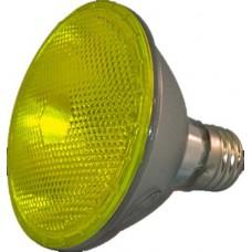 75W - Yellow - PAR30 - Flood - Halogen - 130 Volt   (75PAR30/HAL/FL/Yellow)
