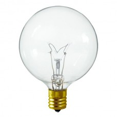 15 Watt G16 Bulb, Candelabra (E12) Base - Clear  (15G16/CAN/CL)