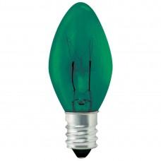 5W C7 Christmas lights- Transparent Green - 5C7/CAN/TG