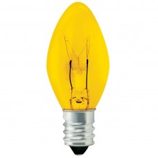 5W C7 Christmas lights- Transparent Yellow - 5C7/CAN/TY