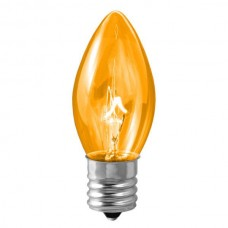 7W - C9.25 - Intermediate (E17) Base - Christmas lights- Transparent Amber - 7C9.25/INT/TA**Not Available**
