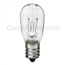 3S6-130V/CAN/CL - Miniature Indicator Lamp - S6 Bulb - 130 Volt - 3 Watt - Candelabra Screw (E12) Base