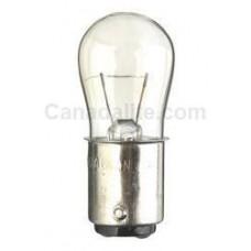 3S6-130V/DC/CL - Miniature Indicator Lamp - S6 Bulb - 130 Volt - 3 Watt - DC Bayonet Base (BA15d)