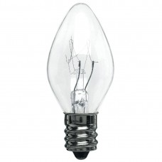 7C7-120V/CAN/CL - Miniature Indicator Lamp - C7 Bulb - 120 Volt - 7 Watt - Candelabra Screw (E12) Base