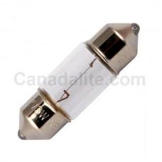 A1256 miniature indicator lamp - T8 Bulb - 3 Watt - 24 Volt - 0.125 Amp. - Festoon Cap  (S7d)