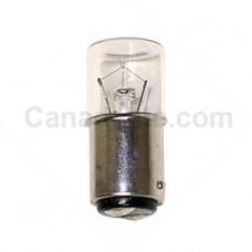 SP-22 Miniature Indicator Lamp - T6 Bulb - 115 Volt - 10 Watt - DC Bayonet Base (BA15d)