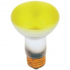 50 Watt - R20 - Transparent  Yellow -  130Volt -  Medium (E26) Base - 50R20/TY
