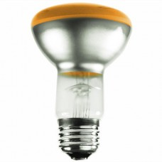 50 Watt - R20 - Transparent Amber -  130Volt -  Medium (E26) Base - 50R20/TA