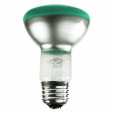 50 Watt - R20 - Transparent Green -  130Volt -  Medium (E26) Base - 50R20/TG