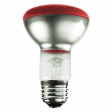 50 Watt - R20 - Transparent Red - 130Volt -  Medium (E26) Base - 50R20/TR