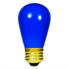 11 Watt - Ceramic Blue -S14 Sign lamp - Medium (E26) Base - 11S14/CB