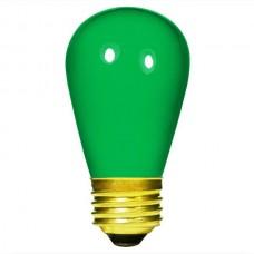 11 Watt - Ceramic Green -S14 Sign lamp - Medium (E26) Base - 11S14/CG
