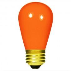 11 Watt - Ceramic Orange -S14 Sign lamp - Medium (E26) Base - 11S14/CO