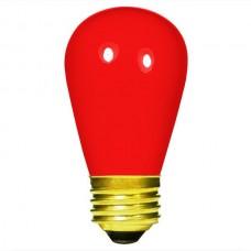 11 Watt - Ceramic Red -S14 Sign lamp - Medium (E26) Base - 11S14/CR