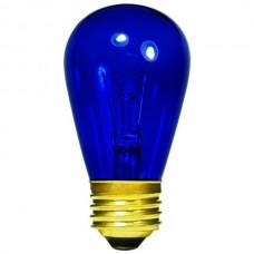 11 Watt - Transparent Blue -S14 Sign lamp - Medium (E26) Base - 11S14/TB