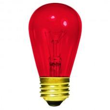 11 Watt - Transparent Red -S14 Sign lamp - Medium (E26) Base - 11S14/TR