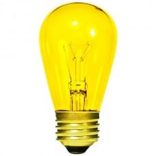 11 Watt - Transparent Yellow -S14 Sign lamp - Medium (E26) Base - 11S14/TY