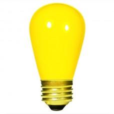 11 Watt - Ceramic Yellow -S14 Sign lamp - Medium (E26) Base - 11S14/CY