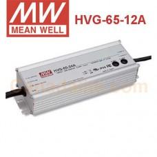 HVG-65-12A Meanwell LED Driver - HVG-65 Series - 12V 65W  - IP65