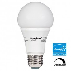 Luminus® LED A19 - Dimmable - 9.5 Watt - 3000K Halogen White - 800 Lumens - 60 Watt Equal - 300D - A19LED9.5W/30K
