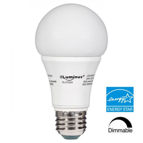 Luminus® LED A19 - Dimmable - 9.5 Watt - 3000K Halogen White - 800 Lumens - 60 Watt Equal - 300D - A19LED9.5W/30K  sc 1 st  CanadaLite.com & Luminus® LED A19 - Dimmable - 9.5 Watt - 3000K Halogen White - 800 ... azcodes.com