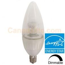 Liteline G4-B11LED5W-27K-ES - LED B11 - Dimmable - 4.7 Watt - 2700K Warmwhite - 330 Lumens - 40 Watt Equal - Energy Star®