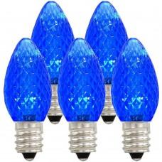 Symban LED C7 Replacement Bulb - Blue - Candelabra (E12) Base - LED1/C7/CAN/BLUE 120V - Pack of 10 Bulbs