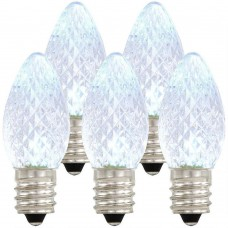 Symban LED C7 Replacement Bulb -  Clear - Candelabra (E12) Base - LED1/C7/CAN/CL 120V - Pack of 10 bulbs
