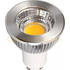 5 Watt - GU10 LED with Reflector - Coolwhite - Dimmable - 120V - GU10 Base - LEDGU10-5W-CW-80D