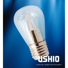Ushio 1003866 - UTOPIA L S14 LED Bulb - Warm White - Clear - Dimmable - E26 Base ** Possible Sub Ushio 1004161 **