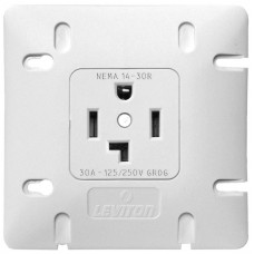 Leviton 1278-W30 Single Outlet Dryer Receptacle Nema 14-30R 30A 250V White
